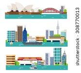 australia landscape   Shutterstock .eps vector #308770013