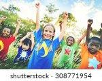 children family enjoyment... | Shutterstock . vector #308771954
