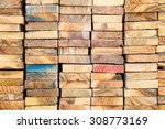 Stack Of Wood Lumber For...