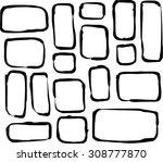 hand drawn round corner... | Shutterstock .eps vector #308777870