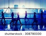 back lit people walking mall... | Shutterstock . vector #308780330