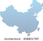 map of china | Shutterstock .eps vector #308801789