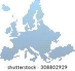 map of europe | Shutterstock .eps vector #308802929