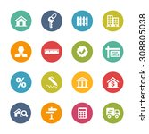 real estate icons  circle series | Shutterstock .eps vector #308805038