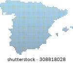 map of spain | Shutterstock .eps vector #308818028