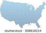 map of usa | Shutterstock .eps vector #308818214