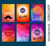 template. set of poster  flyer  ... | Shutterstock .eps vector #308821409