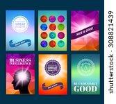 template. set of poster  flyer  ... | Shutterstock .eps vector #308821439