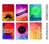 template. set of poster  flyer  ... | Shutterstock .eps vector #308821466