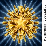 background with gold shooting... | Shutterstock .eps vector #308822570