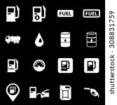 vector white gas station icon... | Shutterstock .eps vector #308831759