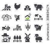 farm icon | Shutterstock .eps vector #308834174