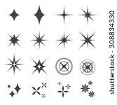 sparkles icon | Shutterstock .eps vector #308834330