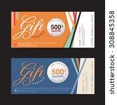 vector illustration gift... | Shutterstock .eps vector #308845358