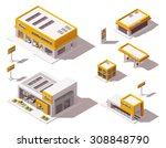 vector isometric icon set or... | Shutterstock .eps vector #308848790