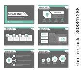 black and green multipurpose... | Shutterstock .eps vector #308849288
