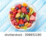 fruit and berry. healthy eating ... | Shutterstock . vector #308852180
