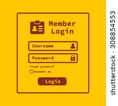 member login interface. login...
