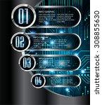 dark blue silver black web... | Shutterstock .eps vector #308855630