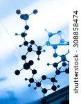 science molecule dna model... | Shutterstock . vector #308858474