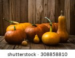 Thanksgiving Concept. Pumpkins...