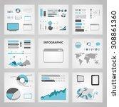 vector illustration of  seo... | Shutterstock .eps vector #308861360