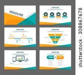 orange and green multipurpose... | Shutterstock .eps vector #308867678