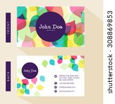 business card or visiting card... | Shutterstock .eps vector #308869853
