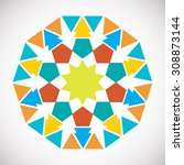 abstract mandalas. ornament... | Shutterstock .eps vector #308873144