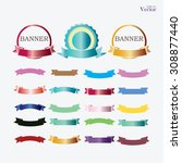 set of banner set of ribbon ... | Shutterstock .eps vector #308877440