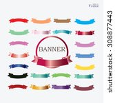 set of banner set of ribbon ... | Shutterstock .eps vector #308877443
