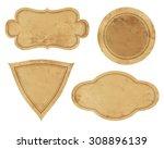 Stock photo set of vintage labels 308896139