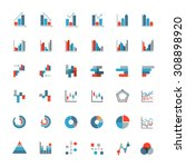 graph icons. investment stocks. ... | Shutterstock .eps vector #308898920