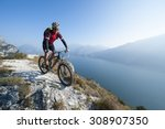 mountainbike adventure - stock photo
