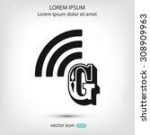 letter g  icon  | Shutterstock .eps vector #308909963