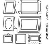 vector set of photo frame | Shutterstock .eps vector #308910248