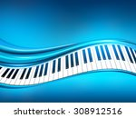 blue piano background | Shutterstock .eps vector #308912516