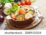 chicken meat stew with... | Shutterstock . vector #308915324