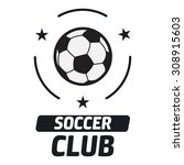 soccer label with sample text.... | Shutterstock .eps vector #308915603