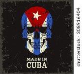 skull color of the flag | Shutterstock .eps vector #308916404