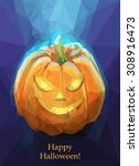low poly polygon pumpkin for...   Shutterstock .eps vector #308916473