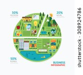 infographic business graph... | Shutterstock .eps vector #308924786