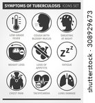 icons set symptoms of... | Shutterstock .eps vector #308929673