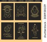 abstract line graphics. set.... | Shutterstock .eps vector #308938109