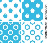 apple patterns set  simple and...