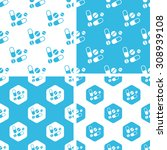 medicine patterns set  simple... | Shutterstock .eps vector #308939108