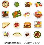international cuisine food from ... | Shutterstock .eps vector #308943470