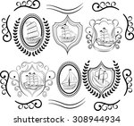 sailboat icons. sailing ship ... | Shutterstock .eps vector #308944934
