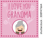 beautiful grandmother frame | Shutterstock .eps vector #308947664