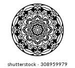 floral design black white | Shutterstock . vector #308959979